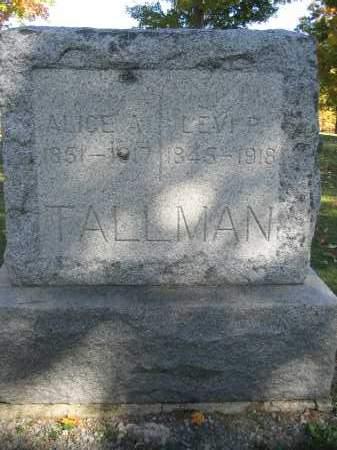 TALLMAN, ALICE A. - Logan County, Ohio | ALICE A. TALLMAN - Ohio Gravestone Photos