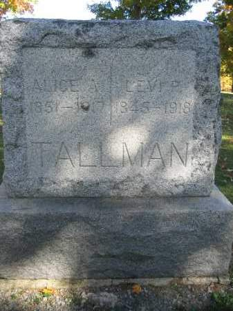TALLMAN, LEVI P. - Logan County, Ohio | LEVI P. TALLMAN - Ohio Gravestone Photos