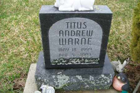 WARNE, TITUS ANDREW - Logan County, Ohio | TITUS ANDREW WARNE - Ohio Gravestone Photos
