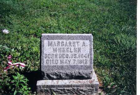 WHEELER, MARGARET A. - Logan County, Ohio | MARGARET A. WHEELER - Ohio Gravestone Photos