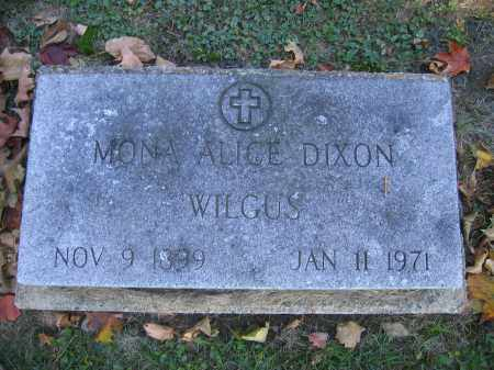 WILGUS, MONA ALICE DIXON - Logan County, Ohio | MONA ALICE DIXON WILGUS - Ohio Gravestone Photos
