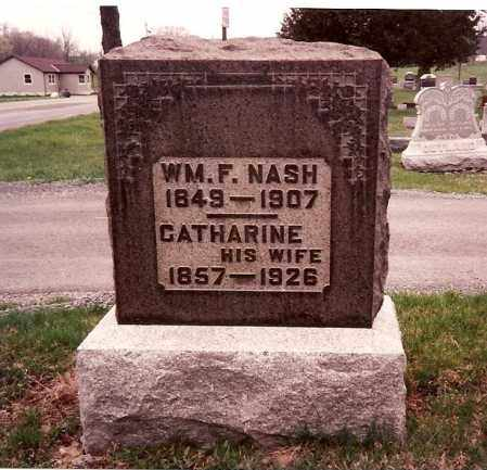NASH, WILLIAM F. - Logan County, Ohio | WILLIAM F. NASH - Ohio Gravestone Photos