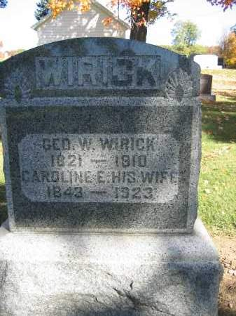 WIRICK, GEORGE W. - Logan County, Ohio | GEORGE W. WIRICK - Ohio Gravestone Photos