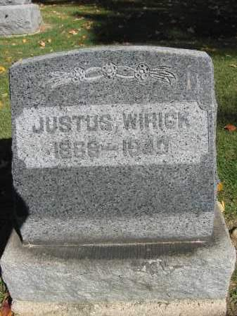 WIRICK, JUSTUS - Logan County, Ohio | JUSTUS WIRICK - Ohio Gravestone Photos