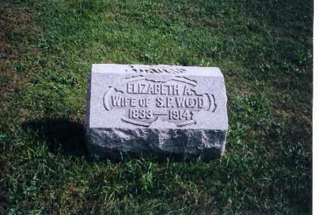 WOOD, ELIZABETH A - Logan County, Ohio | ELIZABETH A WOOD - Ohio Gravestone Photos