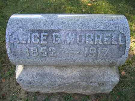 WORRELL, ALICE G. - Logan County, Ohio | ALICE G. WORRELL - Ohio Gravestone Photos