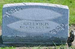 WYBURN, ALICE E - Logan County, Ohio | ALICE E WYBURN - Ohio Gravestone Photos