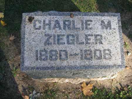 ZIEGLER, CHARLES M. - Logan County, Ohio | CHARLES M. ZIEGLER - Ohio Gravestone Photos