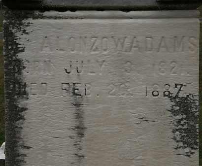 ADAMS, ALONZO W. - Lorain County, Ohio | ALONZO W. ADAMS - Ohio Gravestone Photos