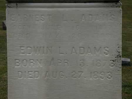 ADAMS, EDWIN L. - Lorain County, Ohio | EDWIN L. ADAMS - Ohio Gravestone Photos