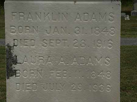 ADAMS, FRANKLIN - Lorain County, Ohio | FRANKLIN ADAMS - Ohio Gravestone Photos