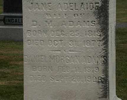ADAMS, JANE - Lorain County, Ohio | JANE ADAMS - Ohio Gravestone Photos