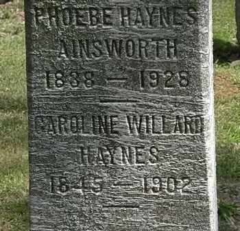 HAYNES, CAROLINE WILLARD - Lorain County, Ohio | CAROLINE WILLARD HAYNES - Ohio Gravestone Photos