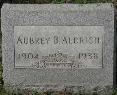 ALDRICH, AUBREY B. - Lorain County, Ohio | AUBREY B. ALDRICH - Ohio Gravestone Photos