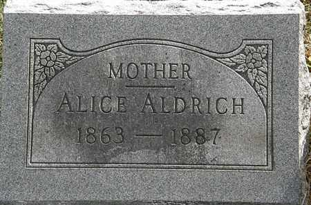 ALDRICH, ALICE - Lorain County, Ohio | ALICE ALDRICH - Ohio Gravestone Photos