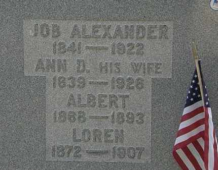 ALEXANDER, JOB - Lorain County, Ohio | JOB ALEXANDER - Ohio Gravestone Photos