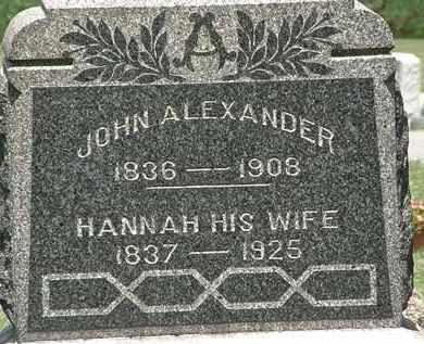 ALEXANDER, HANNAH - Lorain County, Ohio | HANNAH ALEXANDER - Ohio Gravestone Photos