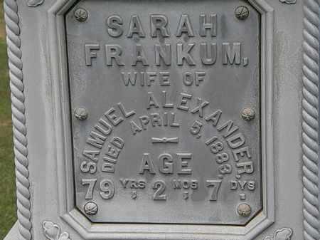 FRANKUM ALEXANDER, SARAH - Lorain County, Ohio | SARAH FRANKUM ALEXANDER - Ohio Gravestone Photos