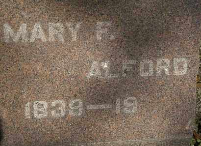 ALFORD, MARY F. - Lorain County, Ohio | MARY F. ALFORD - Ohio Gravestone Photos