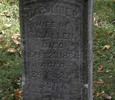ALLEN, CAROLINE P. - Lorain County, Ohio | CAROLINE P. ALLEN - Ohio Gravestone Photos