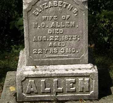 ALLEN, ELIZABETH S. - Lorain County, Ohio | ELIZABETH S. ALLEN - Ohio Gravestone Photos