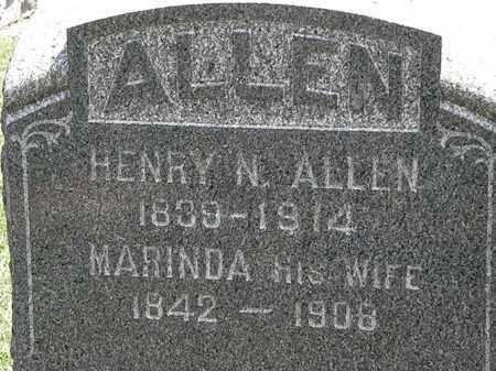 ALLEN, HENRY N. - Lorain County, Ohio | HENRY N. ALLEN - Ohio Gravestone Photos