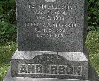 ANDERSON, REBECCA P. - Lorain County, Ohio | REBECCA P. ANDERSON - Ohio Gravestone Photos