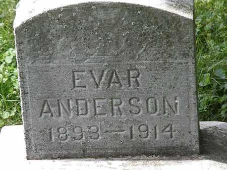 ANDERSON, EVAR - Lorain County, Ohio | EVAR ANDERSON - Ohio Gravestone Photos