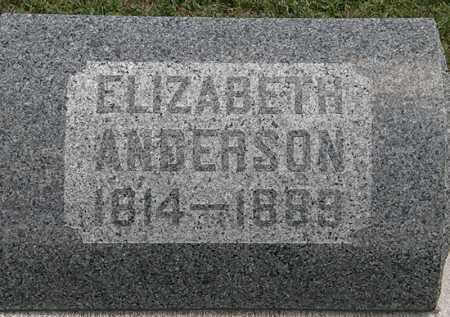 ANDERSON, ELIZABETH - Lorain County, Ohio | ELIZABETH ANDERSON - Ohio Gravestone Photos