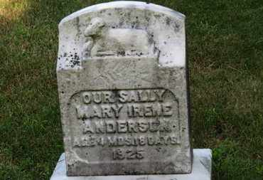 ANDERSON, SALLY MARY IRENE - Lorain County, Ohio | SALLY MARY IRENE ANDERSON - Ohio Gravestone Photos
