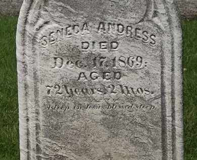 ANDRESS, SENECA - Lorain County, Ohio | SENECA ANDRESS - Ohio Gravestone Photos