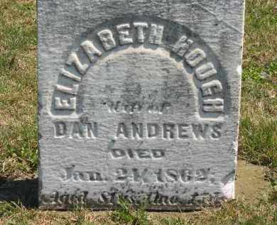 HOUGH ANDREWS, ELIZABETH - Lorain County, Ohio | ELIZABETH HOUGH ANDREWS - Ohio Gravestone Photos