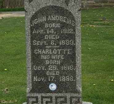 ANDREWS, CHARLOTTE - Lorain County, Ohio | CHARLOTTE ANDREWS - Ohio Gravestone Photos
