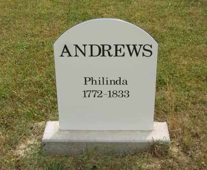 ANDREWS, PHILINDA - Lorain County, Ohio | PHILINDA ANDREWS - Ohio Gravestone Photos