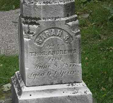 ANDREWS, SARAH S. - Lorain County, Ohio | SARAH S. ANDREWS - Ohio Gravestone Photos