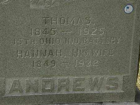 ANDREWS, THOMAS - Lorain County, Ohio | THOMAS ANDREWS - Ohio Gravestone Photos