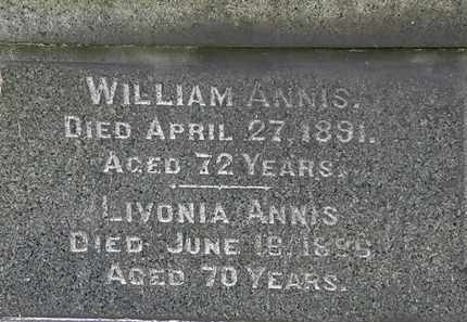 ANNIS, WILLIAM - Lorain County, Ohio | WILLIAM ANNIS - Ohio Gravestone Photos