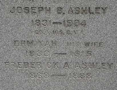 ASHLEY, FREDERICK A. - Lorain County, Ohio | FREDERICK A. ASHLEY - Ohio Gravestone Photos