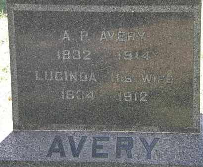 AVERY, LUCINDA - Lorain County, Ohio | LUCINDA AVERY - Ohio Gravestone Photos