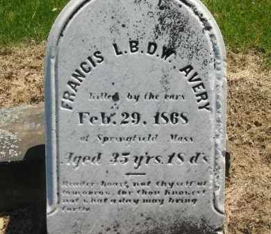AVERY, FRANCIS L. B. D. W. - Lorain County, Ohio | FRANCIS L. B. D. W. AVERY - Ohio Gravestone Photos