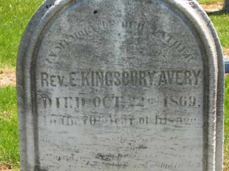 AVERY, REV. E. KINGSBURY - Lorain County, Ohio | REV. E. KINGSBURY AVERY - Ohio Gravestone Photos