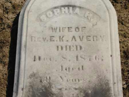 AVERY, REV. E. K. - Lorain County, Ohio | REV. E. K. AVERY - Ohio Gravestone Photos