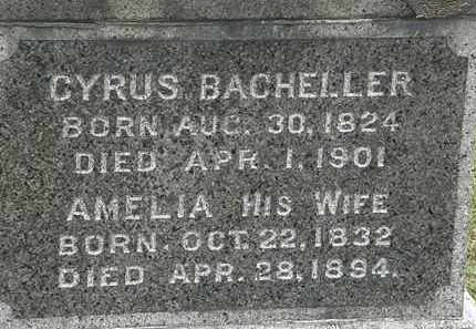 BACHELLER, AMRLIA - Lorain County, Ohio | AMRLIA BACHELLER - Ohio Gravestone Photos