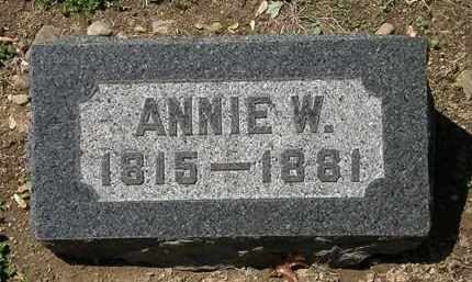 BACON, ANNIE W. - Lorain County, Ohio | ANNIE W. BACON - Ohio Gravestone Photos
