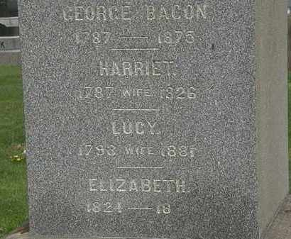 BACON, ELIZABETH - Lorain County, Ohio | ELIZABETH BACON - Ohio Gravestone Photos