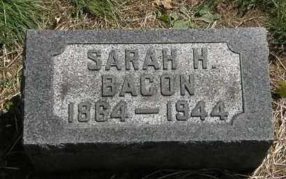 BACON, SARAH H. - Lorain County, Ohio | SARAH H. BACON - Ohio Gravestone Photos