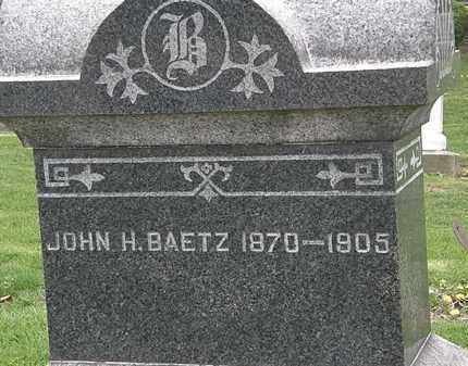 BAETZ, JOHN H. - Lorain County, Ohio | JOHN H. BAETZ - Ohio Gravestone Photos