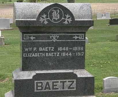 BAETZ, WM. P. - Lorain County, Ohio | WM. P. BAETZ - Ohio Gravestone Photos