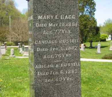 BAGG, MARY E. - Lorain County, Ohio | MARY E. BAGG - Ohio Gravestone Photos