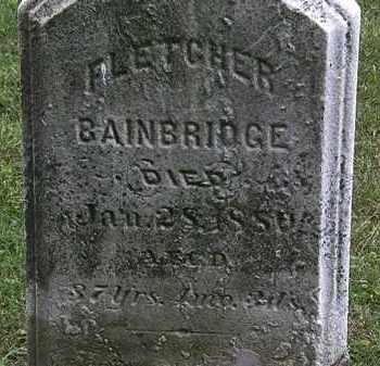 BAINBRIDGE, FLETCHER - Lorain County, Ohio | FLETCHER BAINBRIDGE - Ohio Gravestone Photos